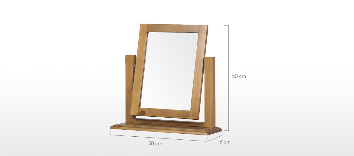 Essentials Pine Dressing Table Vanity Mirror
