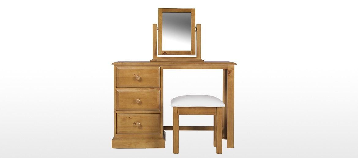 Essentials Pine Dressing Table Set