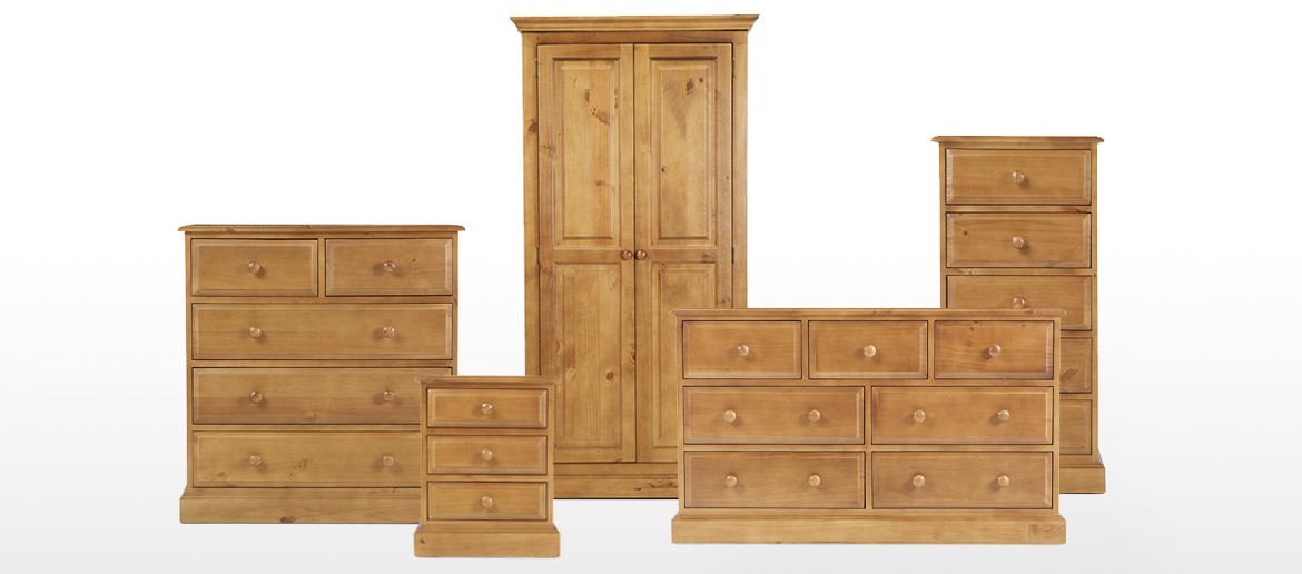 Essentials Pine 3 Over 4 Chest of Drawers