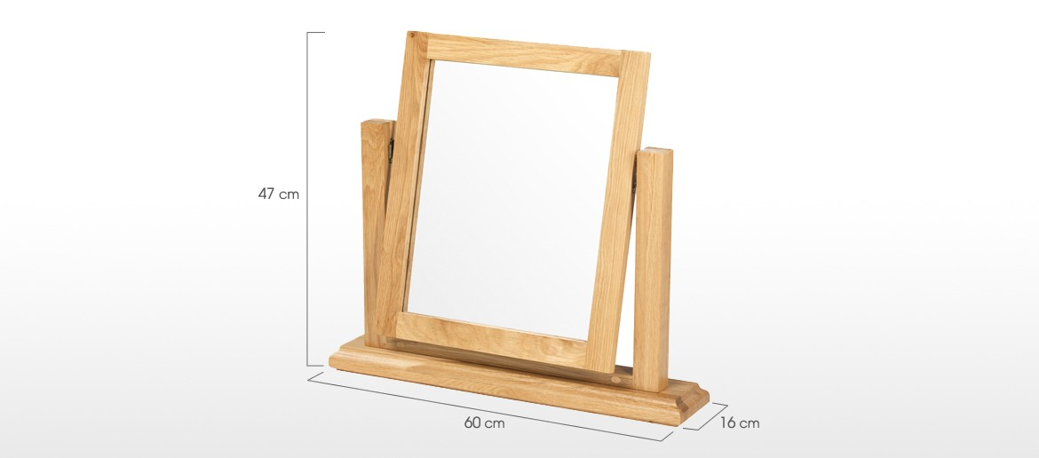 Constance Oak Dressing Table Vanity Mirror