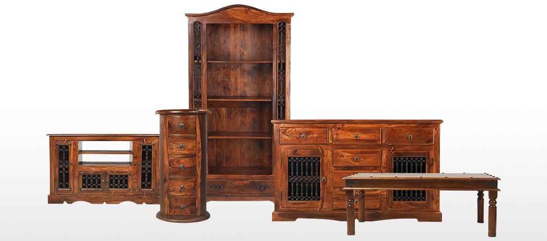 Jali Sheesham Bedside Cabinet - Left