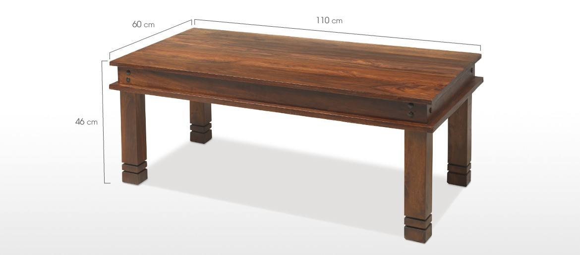 Jali Sheesham 110 cm Chunky Coffee Table