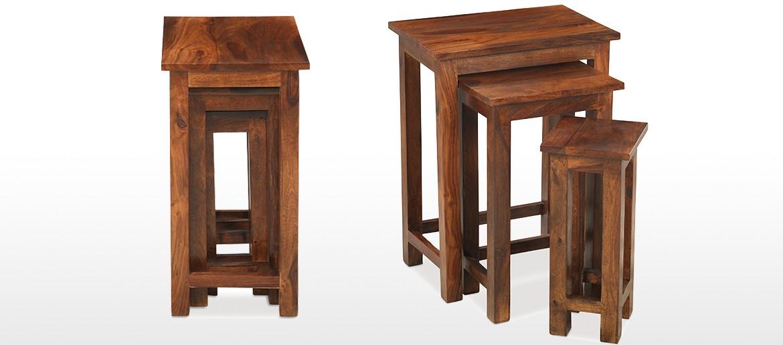 Jali Sheesham Chunky Nest of 3 Tables
