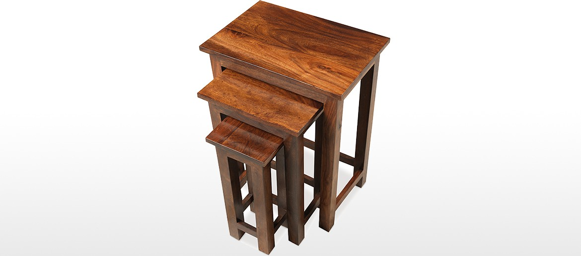 Jali Sheesham Chunky Nest of 3 Tables