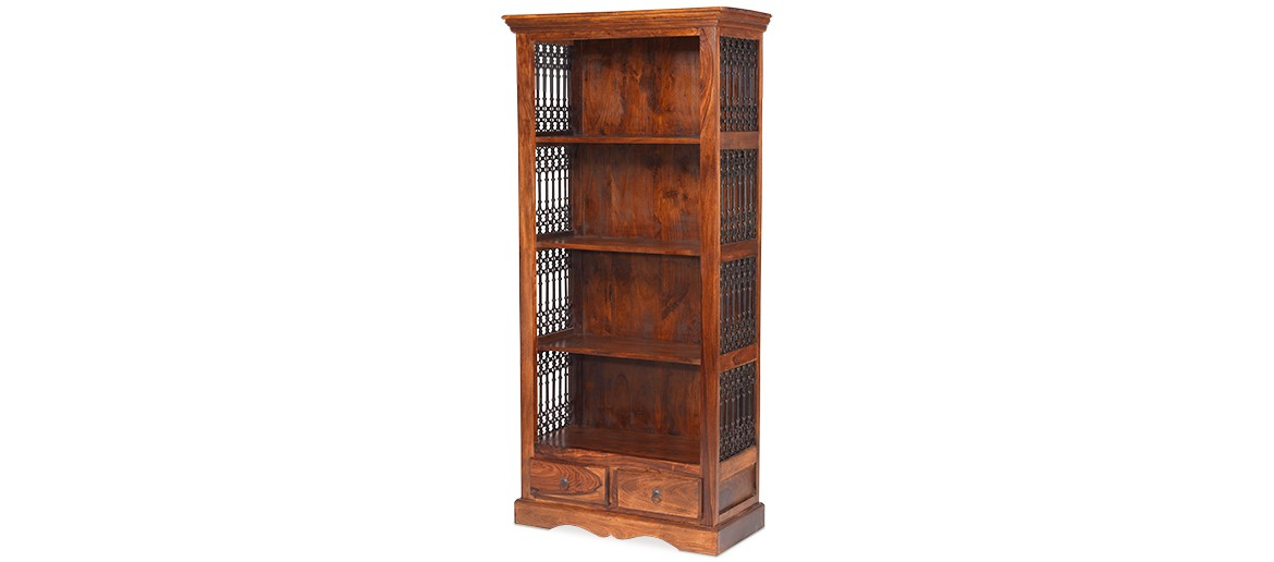 Jali Sheesham Tall Square Bookcase