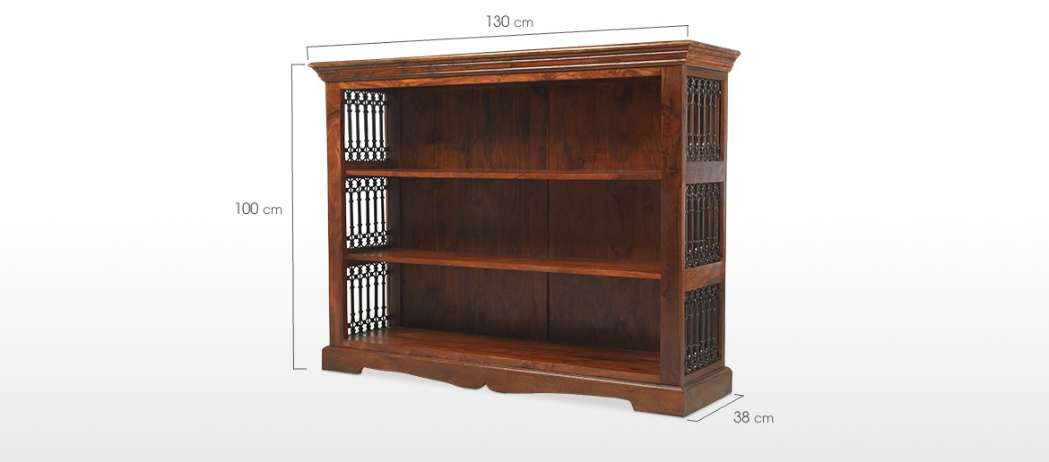 Jali Sheesham Low Bookcase