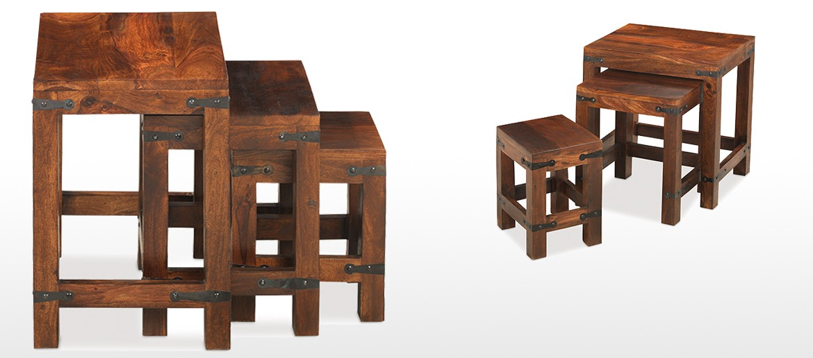Jali Sheesham Nest of 3 Tables