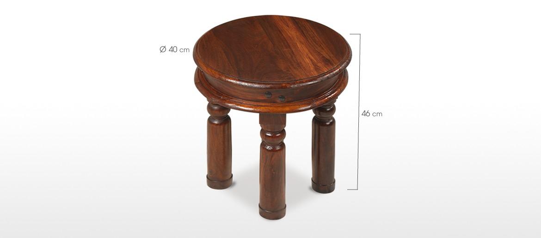 Jali Sheesham 40 cm Round Thakat Coffee Table