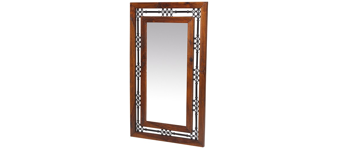 Jali Sheesham Tall Mirror