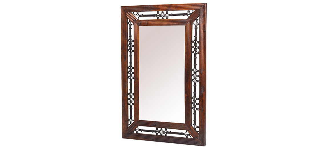 Jali Sheesham Rectangular Mirror