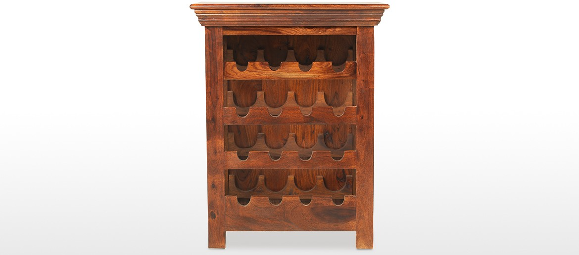 Jali Sheesham Wine Rack