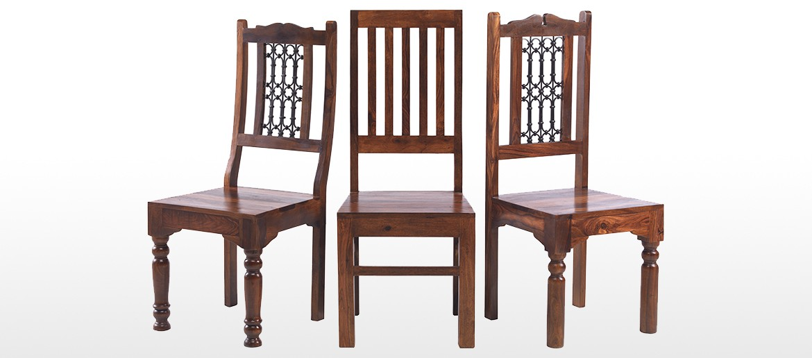 Jali Sheesham 180 cm Thakat Dining Table and 6 Chairs