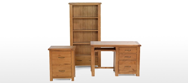 Barham Oak Office Desk