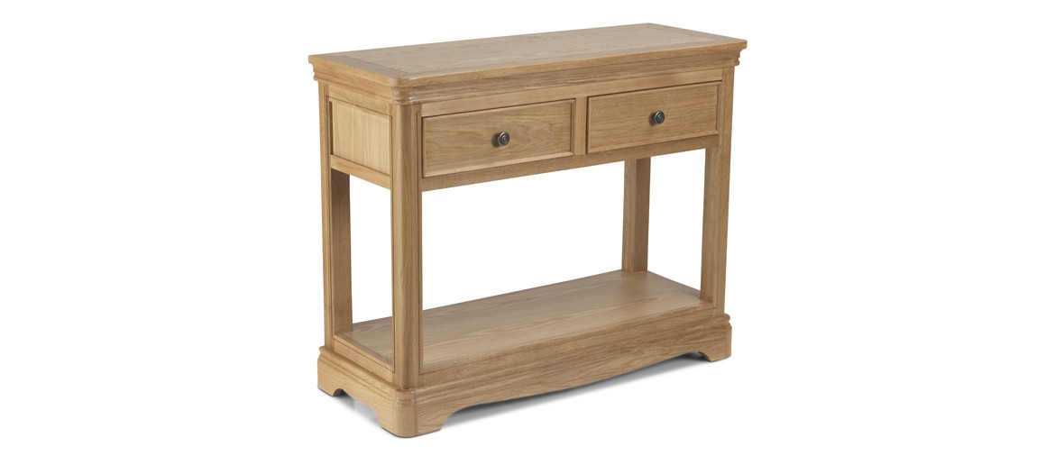 Kilmar Natural Oak Living & Dining Console Table 2 Drawers