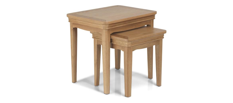 Kilmar Natural Oak Living & Dining Nest Of 2 Tables