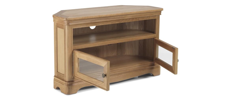 Kilmar Natural Oak Living & Dining Corner TV Unit
