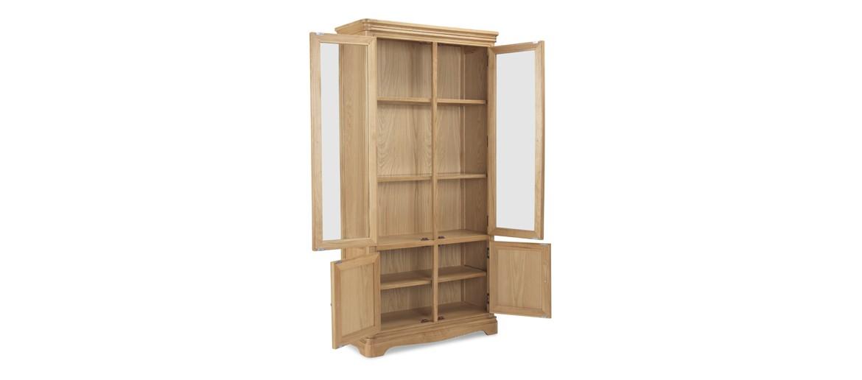 Kilmar Natural Oak Living & Dining Glass Display Cabinet