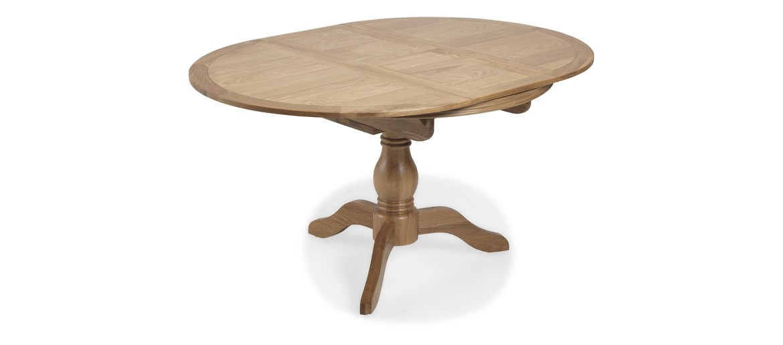 Kilmar Natural Oak Living & Dining Circular Extended Dining Table