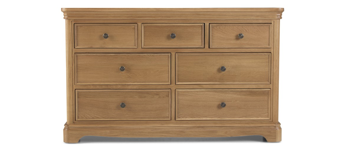 Kilmar Natural Oak Bedroom 3 Over 4 Chest