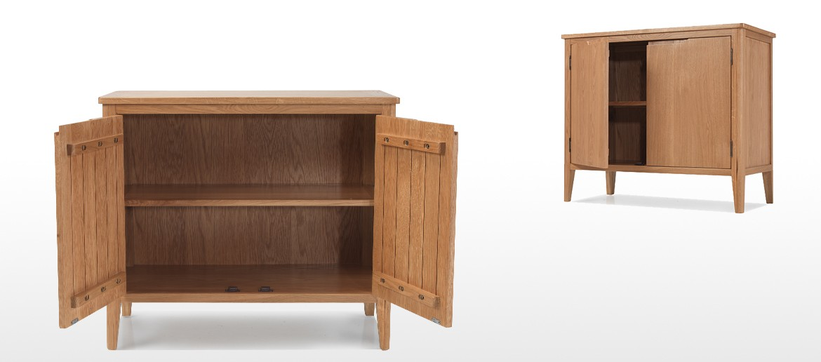 Eklund Oak Small Sideboard with Doors