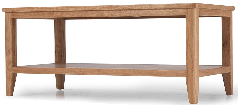 Eklund Oak Coffee Table with Shelf