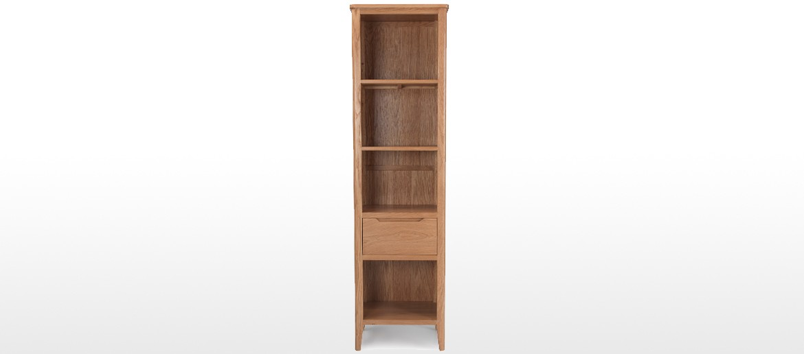 Eklund Oak Slim Bookcase