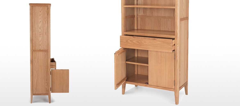 Eklund Oak Tall Bookcase