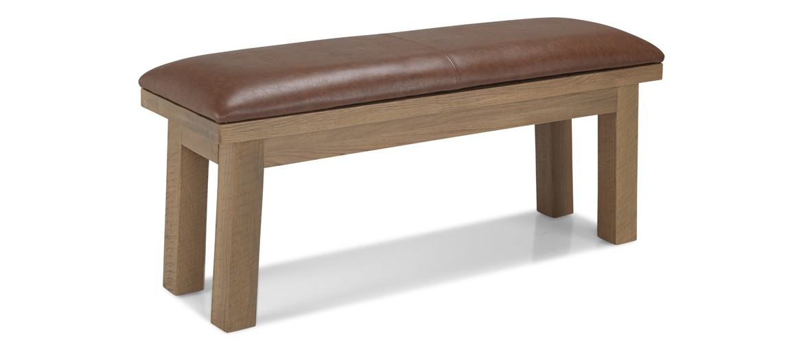Holloway Rough Sawn Oak Dining Bench