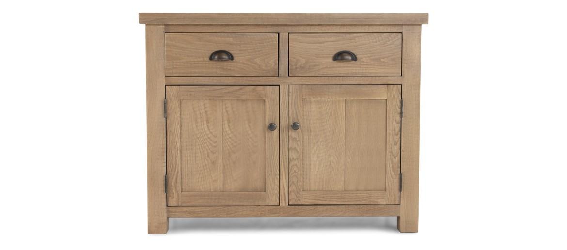 Holloway Rough Sawn Oak 2 Drawer 2 Door Sideboard