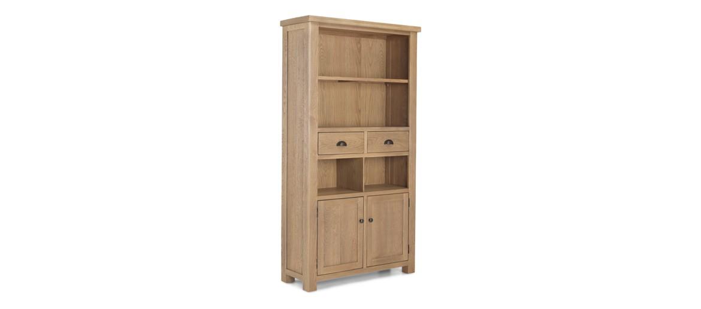 Holloway Rough Sawn Oak Tall Bookcase