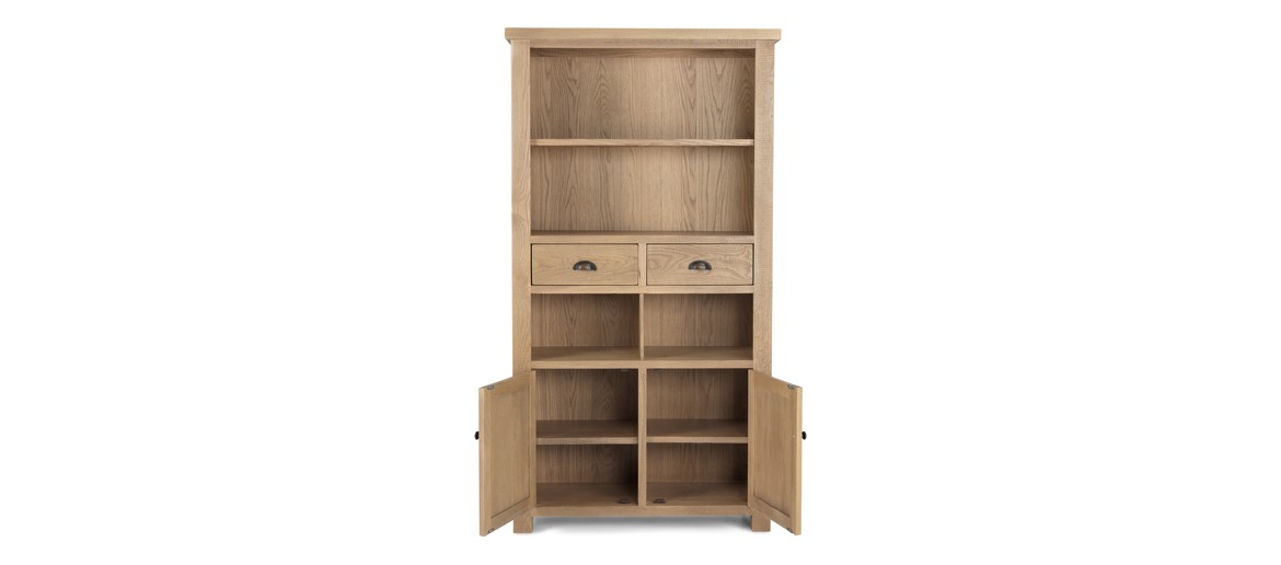 Holloway Rough Sawn Oak Tall Bookcase