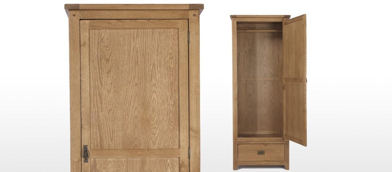 Rustic Oak Single Wardrobe