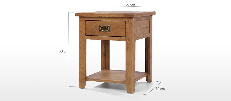 Rustic Oak 1 Drawer Bedside Table
