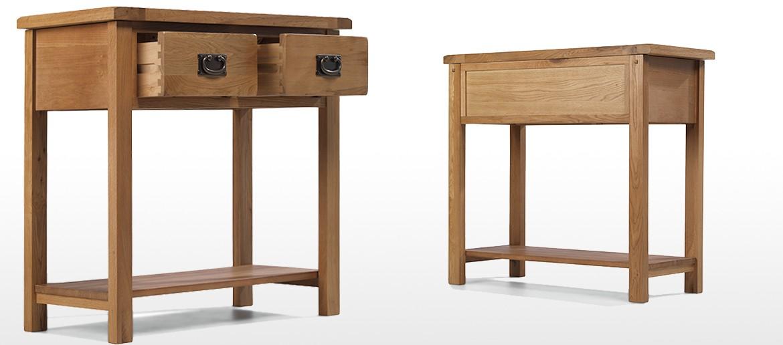 Rustic Oak Console Table