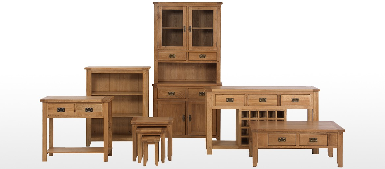 Rustic Oak Tall Slim Bookcase