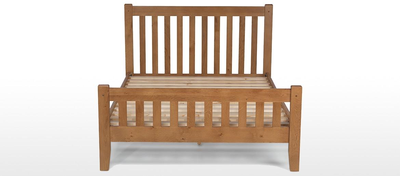 Rustic Oak King Size Bed (5')