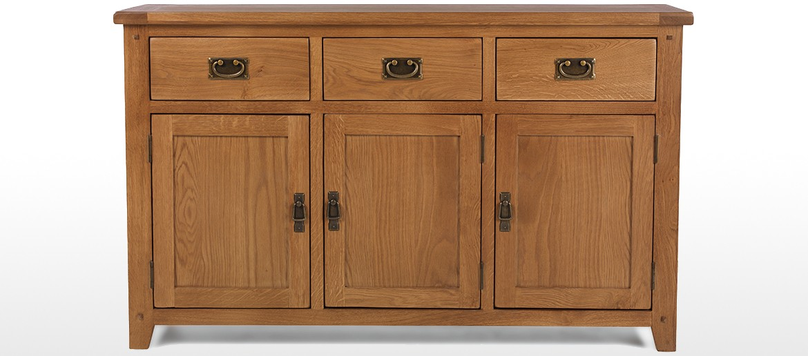 Rustic Oak Large Sideboard