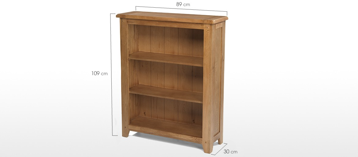 Rustic Oak Low Bookcase