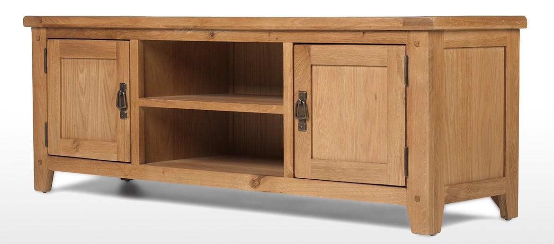 Rustic Oak Plasma TV Stand