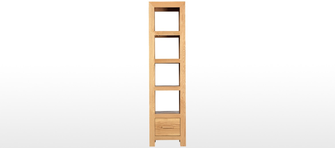 Cube Oak Slim Jim Bookcase