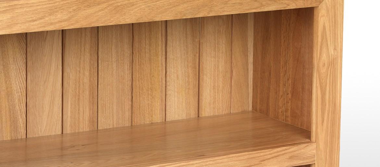 Cube Oak Low Bookcase