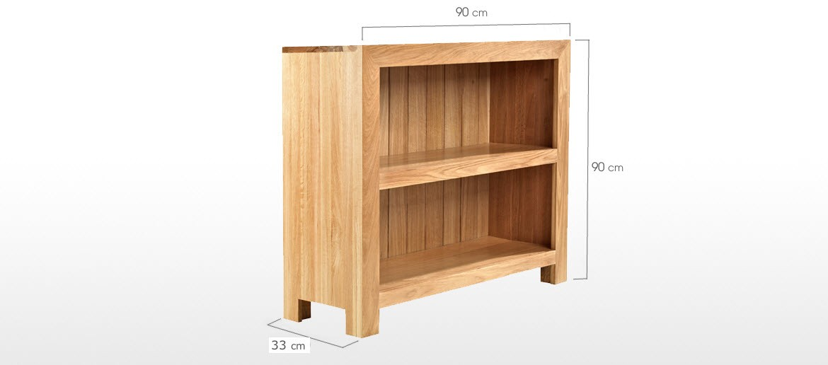 Cube Oak Low Bookcase Quercus Living