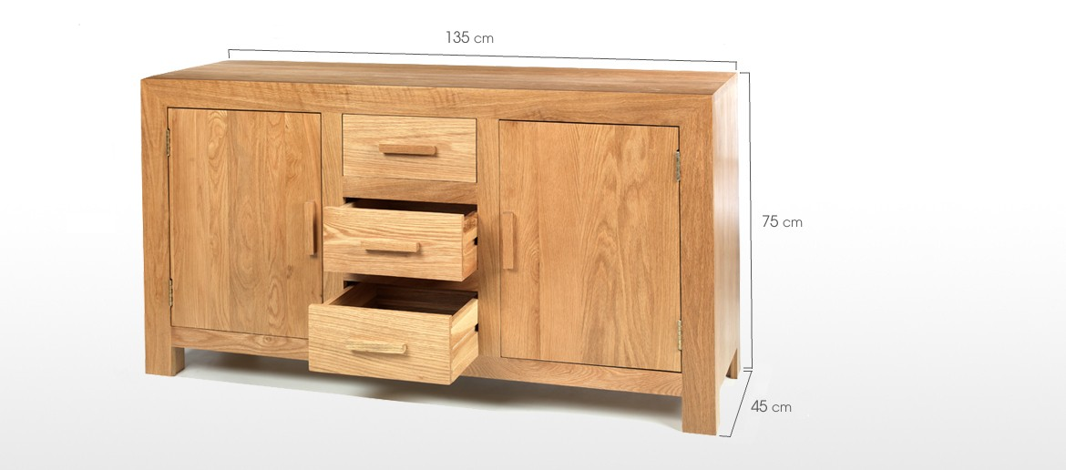 Cube Oak Large Sideboard