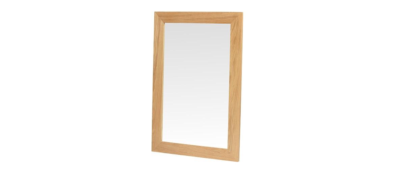 Cube Oak Small Mirror