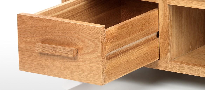 Cube Oak Plasma TV Stand