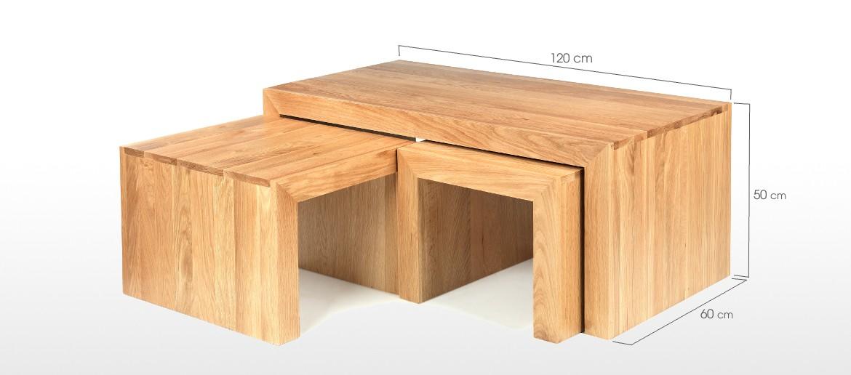 Cube Oak Long John Coffee Table