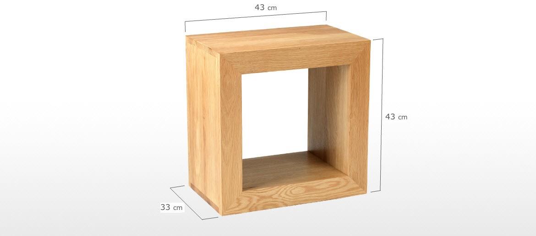Cube Oak 1 Hole Cube