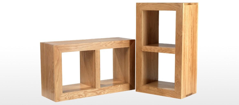 Cube Oak 2 Hole Cube