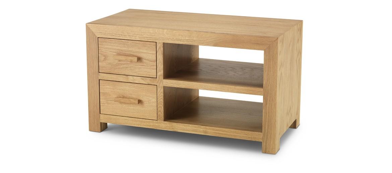 Cube Oak TV Cabinet