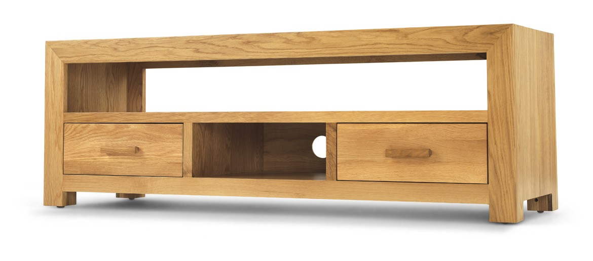 Cube Oak Plasma TV Unit